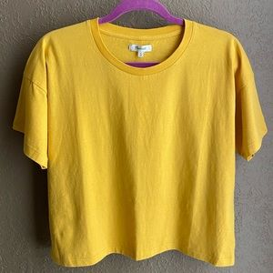 Madewell Yellow Easy Fit T-Shirt